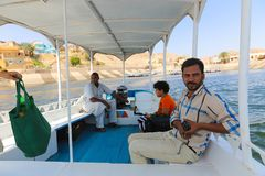 Tourists at Philae island - Aswan, Egypt Stock Image