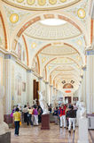Tourists photograph at the Hermitage Museum Royalty Free Stock Photos