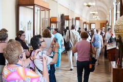 Tourists photograph in Hermitage Royalty Free Stock Image