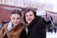 Tourists are photographed Royalty Free Stock Photos