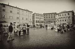 Tourists in Piazza Navona Royalty Free Stock Photography