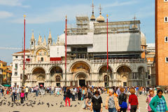 Tourists on Piazza San Marco in Venice, Italy Stock Photos