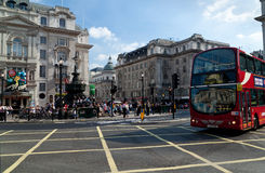 Tourists in Picadilly Circus Stock Photo