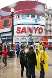 Tourists in Piccadilly Circus, 2010 Royalty Free Stock Photography