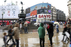 Tourists in Piccadilly Circus, 2010 Royalty Free Stock Photo