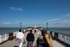 Tourists on the pier of Llandudno Royalty Free Stock Image