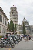 Tourists in Pisa Royalty Free Stock Image