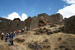 Tourists in pisac Stock Photography