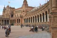 Baroque Architecture at the Spain Square, Seville  Stock Image