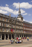 Tourists on Plaza Mayor in Madrid, Spain Stock Image