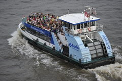 Tourists on a Pleasure Boat, Hamburg, Germany Royalty Free Stock Photos