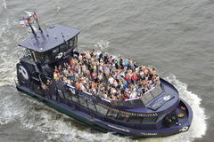 Tourists on a Pleasure Boat, Hamburg, Germany Stock Photography