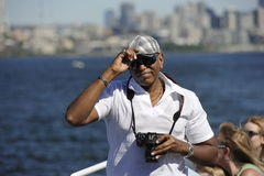 Tourists on a Pleasure Boat, Seattle, USA Royalty Free Stock Images