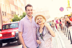 Tourists in Poland Stock Photo
