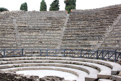 Teatro Piccolo in the ancient Roman Pompeii, Italy Stock Photo