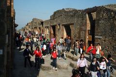 Tourists in pompeii Stock Image