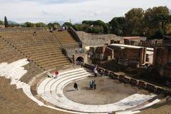 Tourists in Pompeii Royalty Free Stock Photo