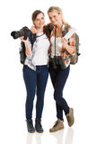 Tourists posing Stock Image
