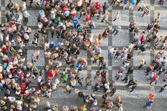 Tourists at Prague Old Town Square Royalty Free Stock Photos