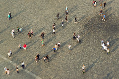 Tourists at Prague Old Town Square Royalty Free Stock Photo