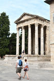 Tourists in Pula Royalty Free Stock Image
