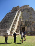 Tourists at the Pyramid of the Magician Stock Photography