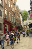 Tourists in Quebec City in Canada Royalty Free Stock Image