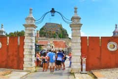 Corfu Old fortress Greece Royalty Free Stock Photos