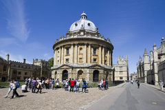 Tourists at Radcliffe Camera in Oxford Stock Photos