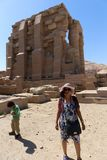 Tourists at Ramesseum temple in Luxor - Egypt Royalty Free Stock Photo