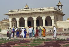 Tourists at the Red Fort Royalty Free Stock Photo