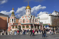 Tourists on the Red square on sunday in Moscow Stock Images