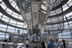 Tourists in Reichstag Berlin Germany. Tourists at the top of the Reichstag in Berlin Germany. A major tourist attraction and a famous government building Royalty Free Stock Photos