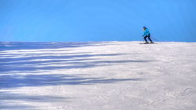 Tourists relax at the mountains ski resort stock footage