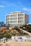 Golden Bay beach, Malta. Stock Photos