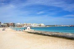 Birzebugga beach, Malta. Royalty Free Stock Photo