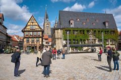 market square of Quedlinburg Royalty Free Stock Photography