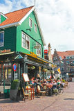 Tourists at a restaurant in Volendam. royalty free stock photos
