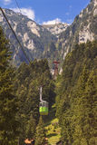 Tourists ride the cable car Royalty Free Stock Images