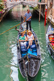 Tourists ride on a gondola Royalty Free Stock Images