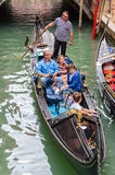 Tourists ride on a gondola Stock Photo