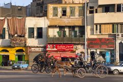 Egypt Travel, Egyptian Town, People Royalty Free Stock Photos