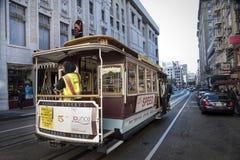Tourists riding Market Street and Fisherman`s Wharf San Francisc stock image