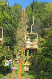 Tourists riding the Sky Lift in Gatlinburg, Tennes Royalty Free Stock Images