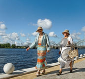 Tourists in Riga. Royalty Free Stock Image
