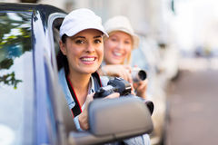 Tourists road trip Stock Photography