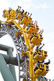 Tourists in roller coaster from Tampere Finland Royalty Free Stock Photo