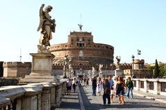 Tourists in Rome Royalty Free Stock Images