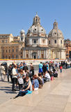 Tourists in Rome Stock Images