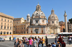 Tourists in Rome Royalty Free Stock Photography